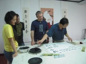 Mistrz Ma Yong An wypracował własny styl kaligrafii